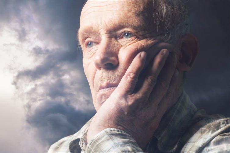 A photo of an elderly man