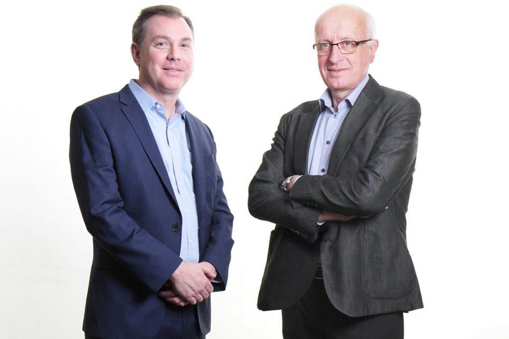 A photo of Michael Laflamme and Gordon Keller