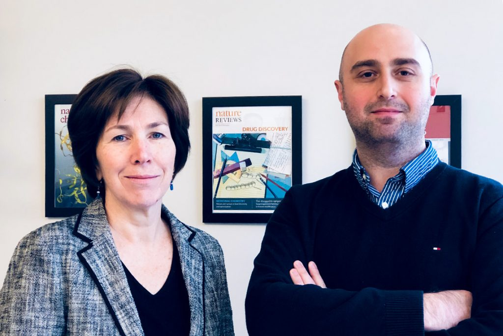 U of T researcher Cheryl Arrowsmith and Levon Halabelian, a research associate at the Structural Genomics Consortium, collaborated with U.S. researchers on the study (photo by Arij Al Chawaf)